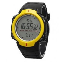Sportos, nagy kijelzős, sárga fekete színű digitáslis karóra 000054oc