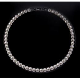 Gyöngy nyaklánc, kapcsos 43 cm. Fehér 00020ec