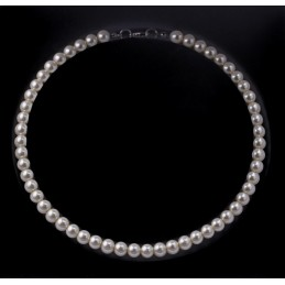 Gyöngy nyaklánc 43 cm. Rózsaszín 00021ec