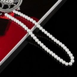 Gyöngy nyaklánc 43 cm. Beige 00022ec