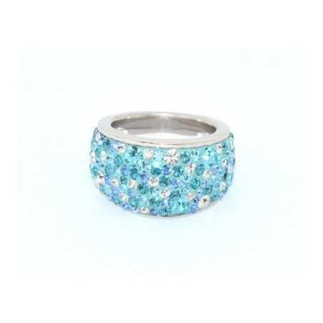 Ezüst gyűrű Swarovski kristállyal. Multicolor 104as