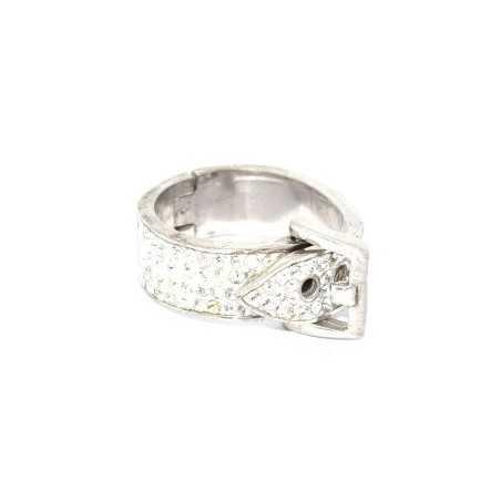 Ezüst gyűrű Swarovski kristállyal. Csatt. Fehér 109as