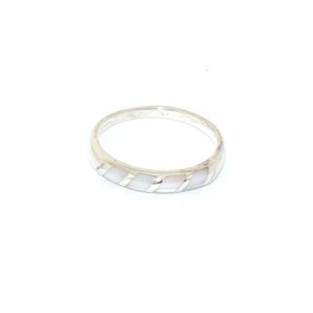Ezüst gyűrű csiszolt kagylóval 125as