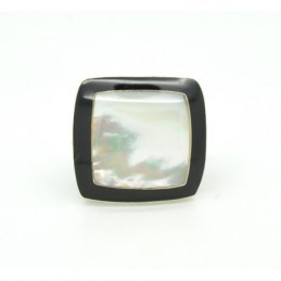 Fából készült gyűrű, ezüst díszítéssel 529as