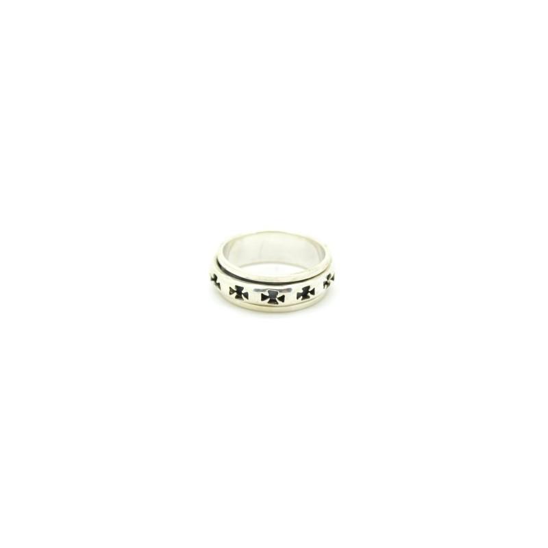 Ezüst forgó gyűrű