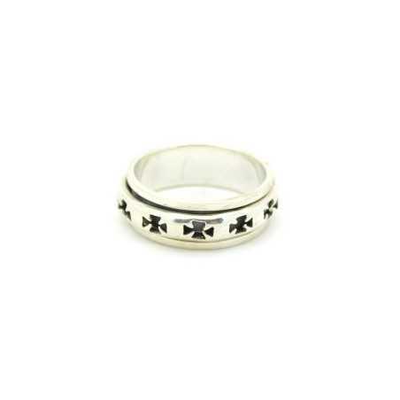 Ezüst forgó gyűrű 567as