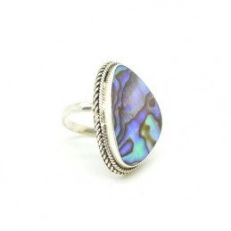 Ezüst gyűrű csiszolt kagylóval 594as