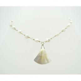 Ezüst nyaklánc kagylóval díszítve 597as