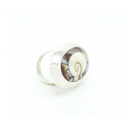 Ezüst gyűrű csiszolt kagylóval 626as