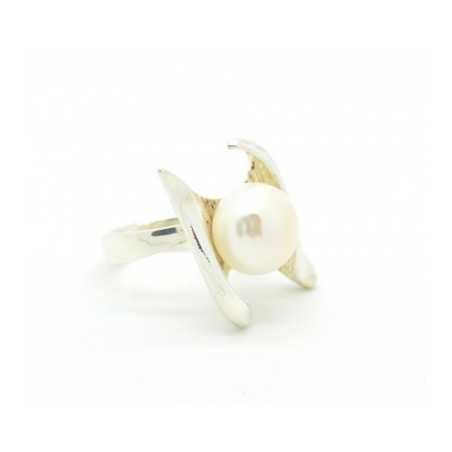 Ezüst gyűrű, gyönggyel 647as