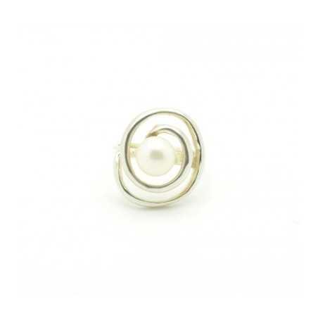 Ezüst gyűrű, gyönggyel 651as