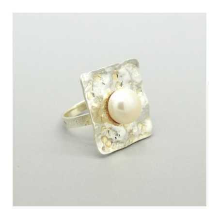 Ezüst gyűrű, gyönggyel 653as