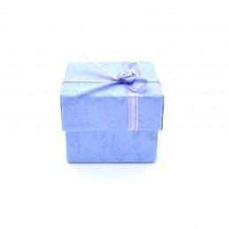 Gyűrű és fülbevaló tartó ajándék díszdoboz, masnival.