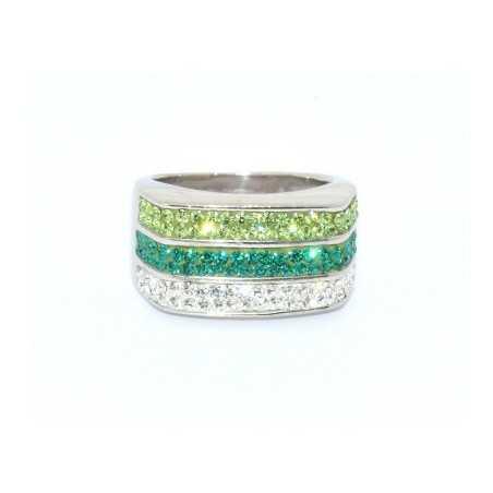 Ezüst gyűrű Swarovski kristállyal. Multicolor 97as