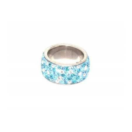 Ezüst gyűrű Swarovski kristállyal. Multicolor 100as