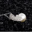 Elegáns nyaklánc és fülbevaló gyöngyökkel 00037ec