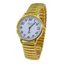 Arany színű Unisex karóra rugós szijjal 42mm-es számlappal 000111-2oc