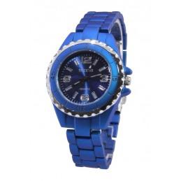 Női Timestar karóra, matt kék szíjjal, kék számlappal. 000317oc