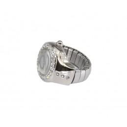 Q&Q gyűrű óra fehér pillangós számlappal 000114oc