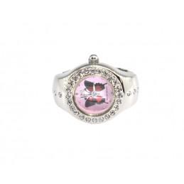 Q&Q gyűrű óra rózsaszín számlappal 000114-1oc