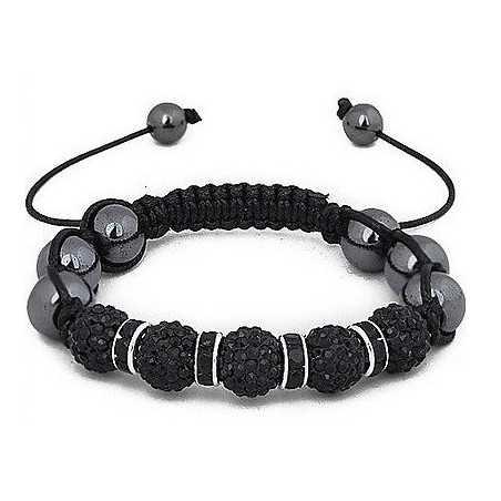 Karkötő, csiszolt fekete kövekkel, állítható méretben. 00111ec