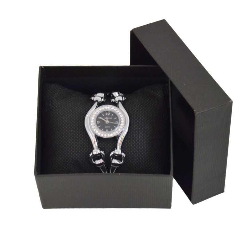 Fekete óradoboz, fekete párnával 000705-3oc