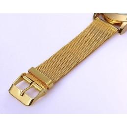 Arany színű, fém szíjas uniszex karóra . 400oc