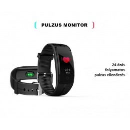 Bluetooth okosóra, pulzusmérővel. Lila. 403oc