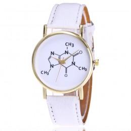 Kémia tanárok kedvence karóra. Fehér szíj. 345-1oc