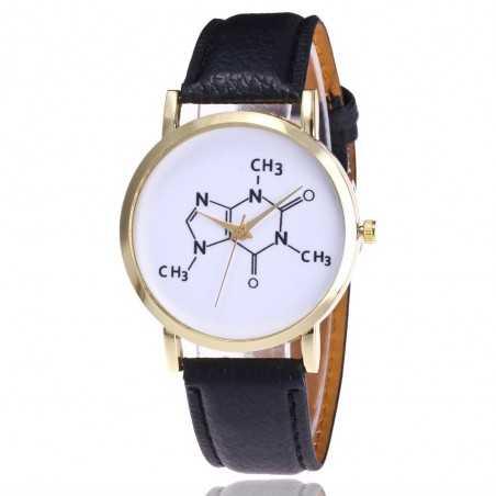 Kémia tanárok kedvence karóra. Fkete szíj. 345-2oc