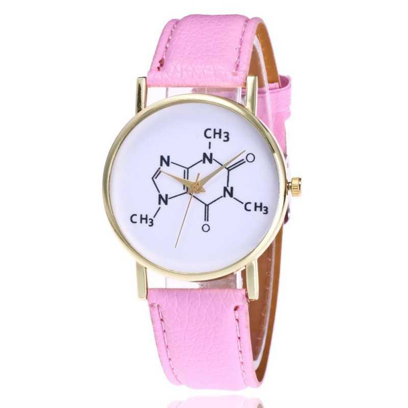 Kémia tanárok kedvence karóra. Rózsaszín szíj. 345-3oc