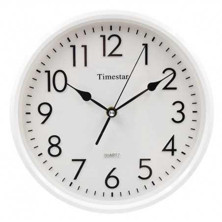 Timestar fehér számlapos, fehér keretes falióra. Átmérő: 26 cm. PW156-1700FF