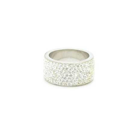 Ezüst gyűrű Swarovski kristállyal. Fehér 95-1as