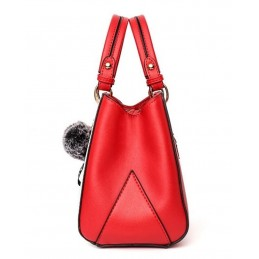 Piros, fekete, fehér divatos női táska