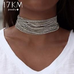 Több soros nyaklánc, csiszolt kövekkel. 00130ec