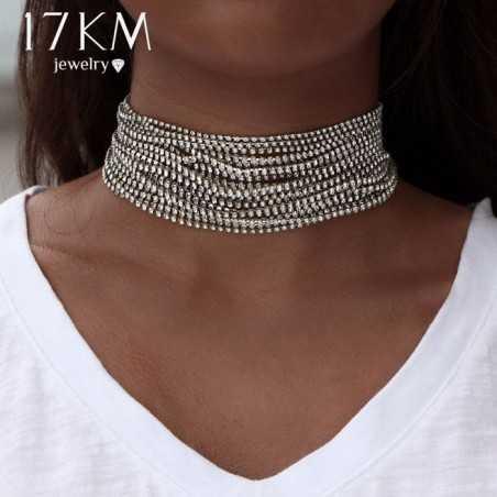 Többsoros nyaklánc, csiszolt kövekkel. 00130ec