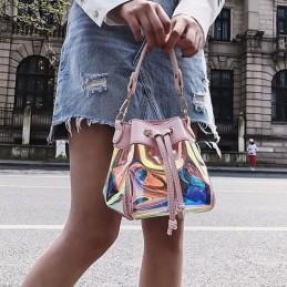 Színjátszós, divatos rózsaszín női táska