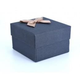 Szövet hatású papír óradoboz, párnával. Kék