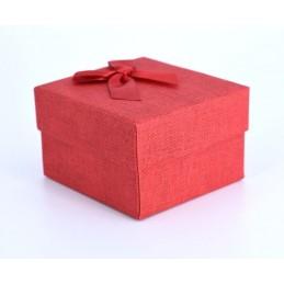 Szövet hatású papír óradoboz, párnával. Piros