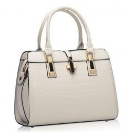 Fehér, fényes lakk, női táska
