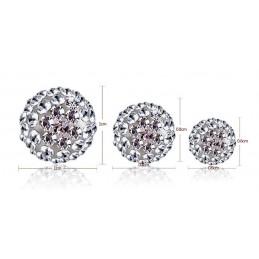 Ezüst Swarovski kristályos gömb 8 mm. Fehér