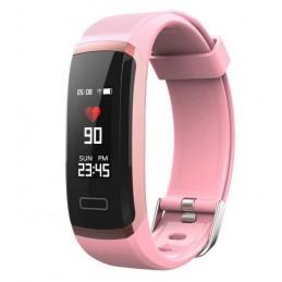 Bluetooth okosóra, pulzusmérővel. Rózsaszín. 440oc