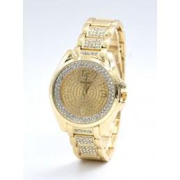 Arany színű strasszos női karóra arany számlappal. 446oc