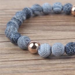 Karkötő csiszolt kövekkel, ezüst és rózsaarany dísszel. 1-10ec