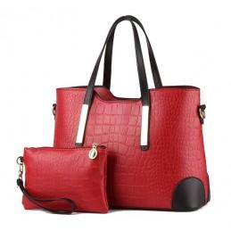 Divatos, piros női táska, kivehető kistáskával.