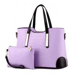 Divatos, lila női táska, kivehető kistáskával.