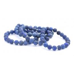 Ásvány karkötő, matt lapis lazuli kristályokkal.