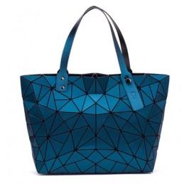 3D geometriai mintás, pávakék színű női táska