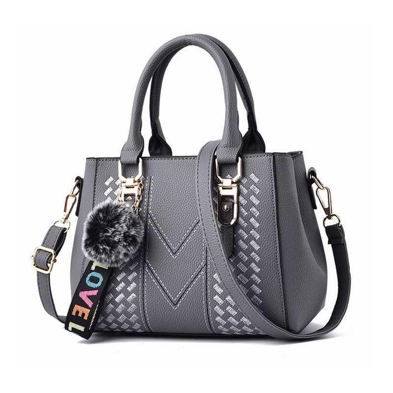 Szürke, varrott mintás női táska, kistáska. 5028-1oc
