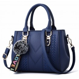 Kék, varrott mintás női táska, kistáska. 5028-2oc